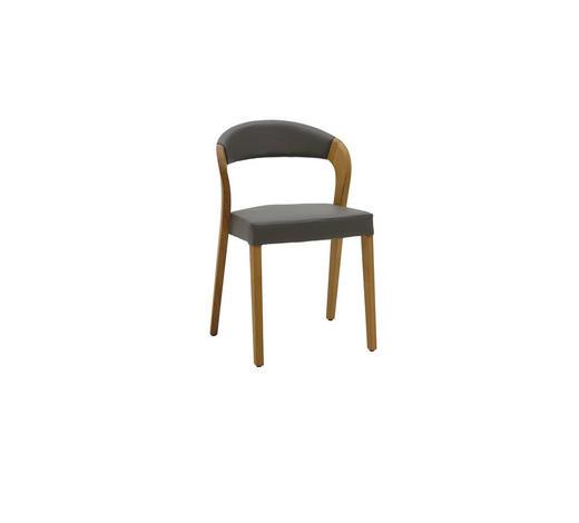 stuhl in holz holzwerkstoff leder dunkelgrau eichefarben online finden xxxlutz. Black Bedroom Furniture Sets. Home Design Ideas