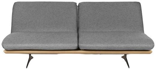 SCHLAFSOFA in Holz, Textil Grau - Beige/Schwarz, Design, Holz/Textil (204/92/90cm) - Dieter Knoll
