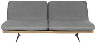 SCHLAFSOFA in Holz, Textil Grau - Schwarz/Grau, Design, Holz/Textil (204/92/90cm) - Dieter Knoll