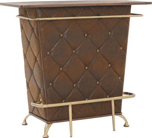 BAR Braun, Eichefarben, Goldfarben - Eichefarben/Goldfarben, Design, Holzwerkstoff/Textil (120/104/48cm) - Kare-Design