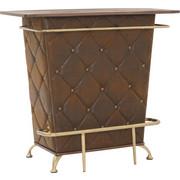 BAR in Braun, Eichefarben, Goldfarben - Eichefarben/Goldfarben, Design, Holzwerkstoff/Textil (120/104/48cm)