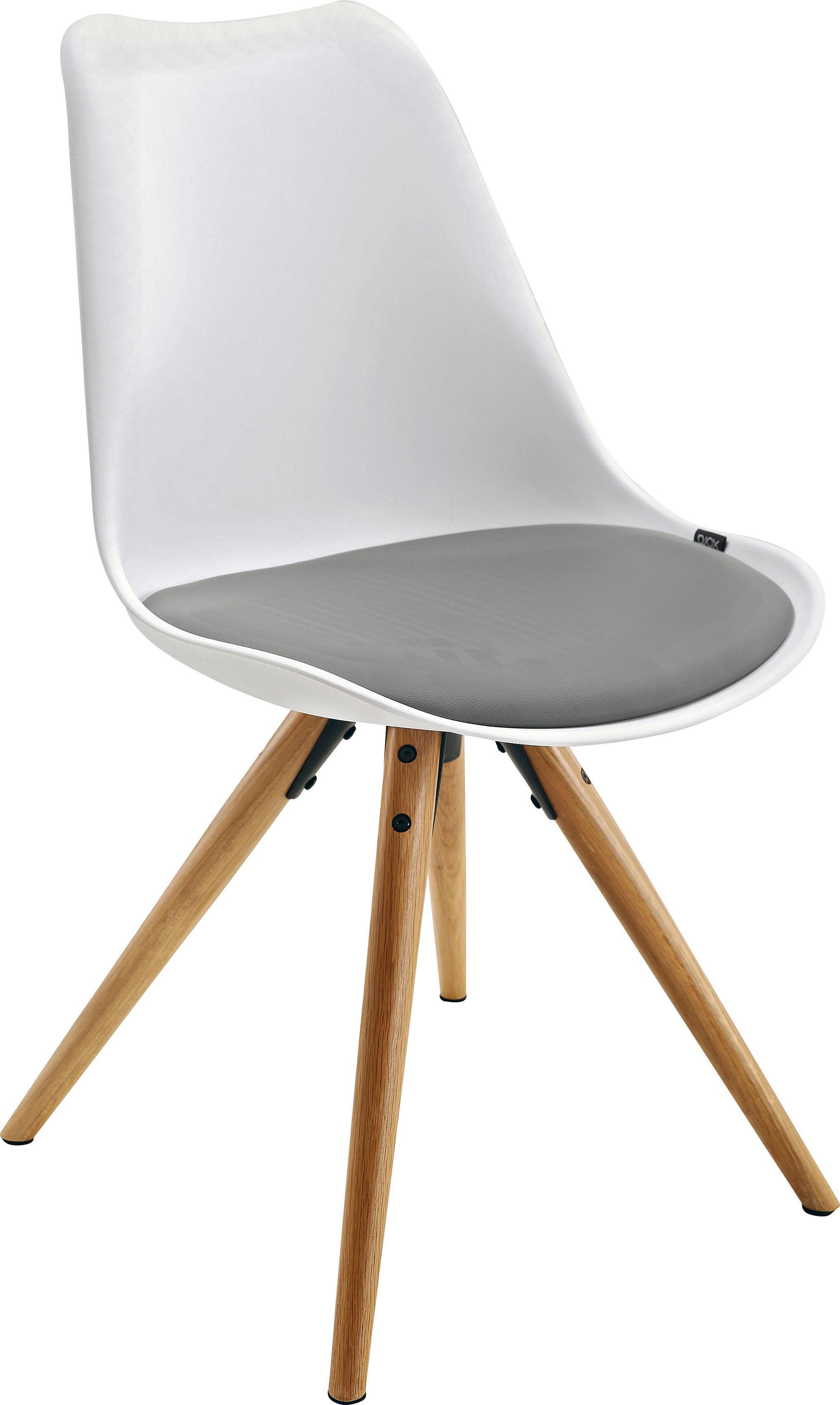Good STUHL Lederlook Grau, Naturfarben, Weiß   Weiß/Naturfarben, LIFESTYLE, Holz/ Nice Design