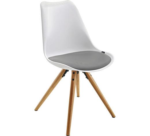 Stuhl Lederlook Grau Naturfarben Weiß Online Kaufen Xxxlutz