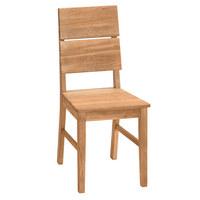 STUHL in Holz Eichefarben - Eichefarben, Design, Holz (42/95/50cm)
