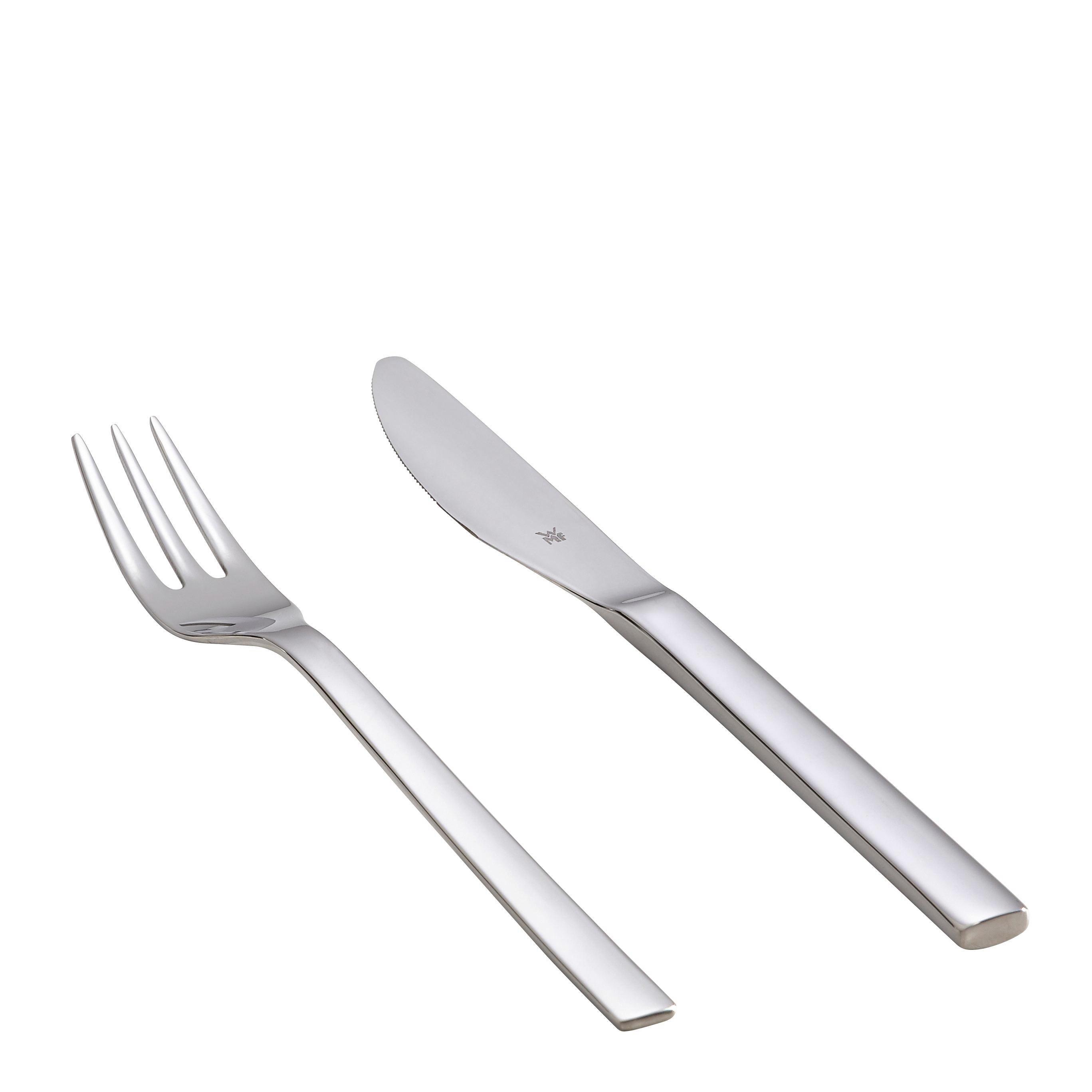 BESTECKSET  2-teilig  Edelstahl - Basics, Metall (18,6/4,0/2,0cm) - WMF