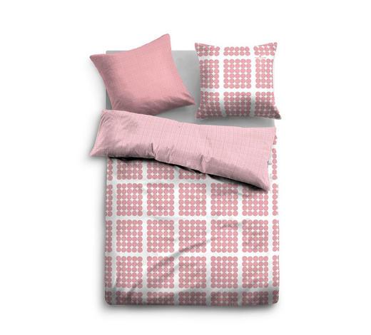 BETTWÄSCHE Satin Rosa, Weiß 155/220 cm - Rosa/Weiß, Trend, Textil (155/220cm) - Tom Tailor