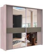SKŘÍŇ S POSUVNÝMI DVEŘMI, šedá, barvy modřínu - šedá/barvy modřínu, Design, kov/kompozitní dřevo (300/217/67cm) - Dieter Knoll
