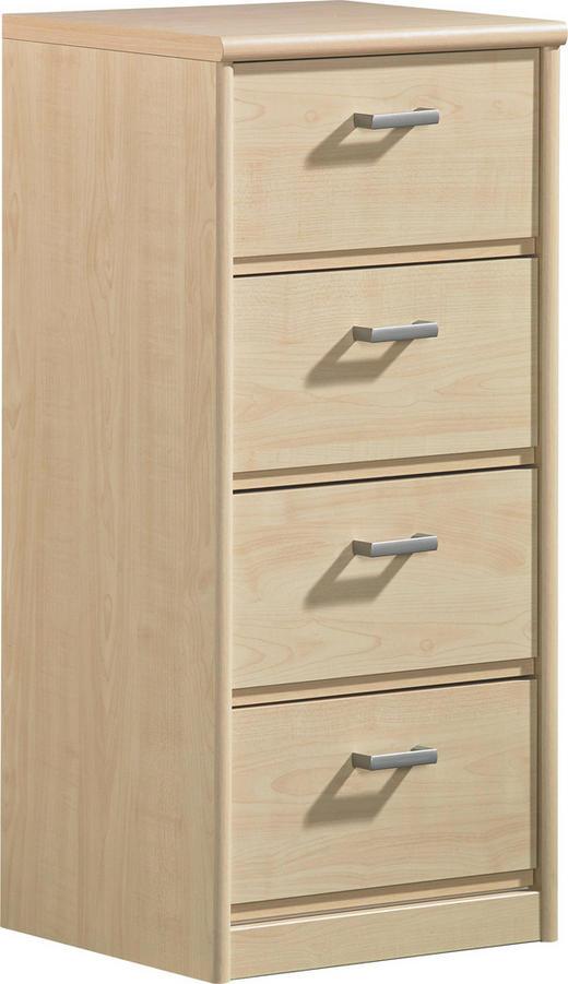KOMMODE Ahornfarben - Silberfarben/Ahornfarben, Design, Holz/Kunststoff (37/84/36cm) - CS SCHMAL