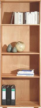 AKTENREGAL Kernbuche massiv Buchefarben - Buchefarben, Design, Holz (73/189/38cm) - Carryhome