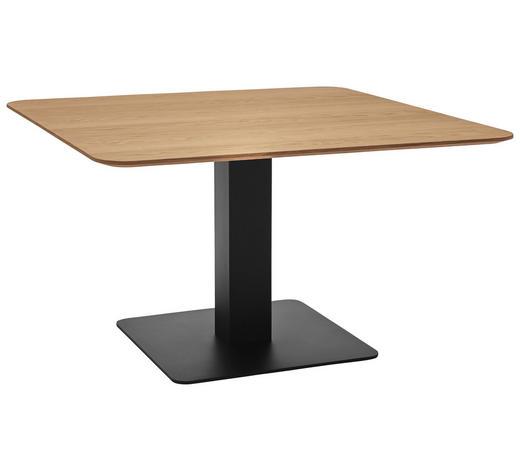ESSTISCH in Holz, Metall, Holzwerkstoff 110/110/75 cm - Eichefarben/Schwarz, Design, Holz/Holzwerkstoff (110/110/75cm) - Dieter Knoll