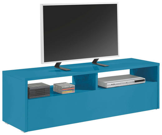 TV-ELEMENT Türkis - Türkis/Grau, Design, Kunststoff (139/44/41cm) - Carryhome