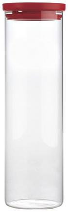 POSUDA ZA ZALIHE - prozirno/crvena, Konvencionalno, staklo/plastika (9,6/32cm) - Homeware
