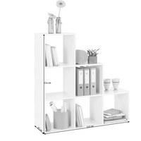 REGÁLOVÝ DÍL - bílá, Design, dřevěný materiál (112/114/35cm)