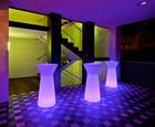 LED STEHTISCH CAPRI 110 - Weiß, Design, Kunststoff (60/110cm)