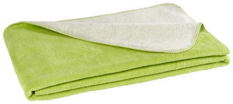 WOHNDECKE 150/200 cm - Limette/Naturfarben, Basics, Textil (150/200cm) - Novel