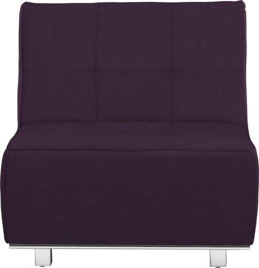 SCHLAFSESSEL in Textil Violett - Chromfarben/Violett, Design, Textil/Metall (84/88/103cm) - Novel