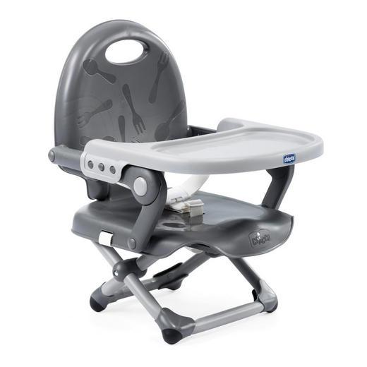 Sitzerhöhung Pocket Snack Dark Grey - Grau, Basics, Kunststoff (34/49/36cm) - Chicco