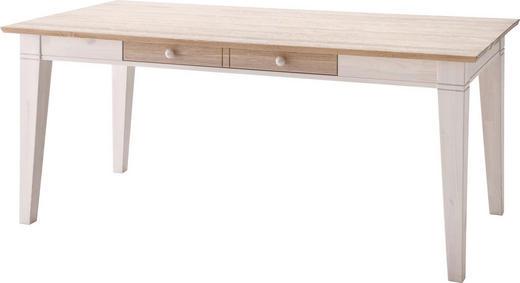 ESSTISCH Kiefer massiv rechteckig Weiß - Weiß, LIFESTYLE, Holz (180/90/76cm) - Carryhome