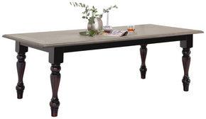 MATBORD - svart/ekfärgad, Lifestyle, trä (220/100/78cm) - Ambia Home