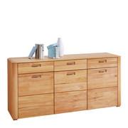 KOMODA, bukev - bukev/aluminij, Konvencionalno, kovina/leseni material (179/86/43cm) - Valnatura