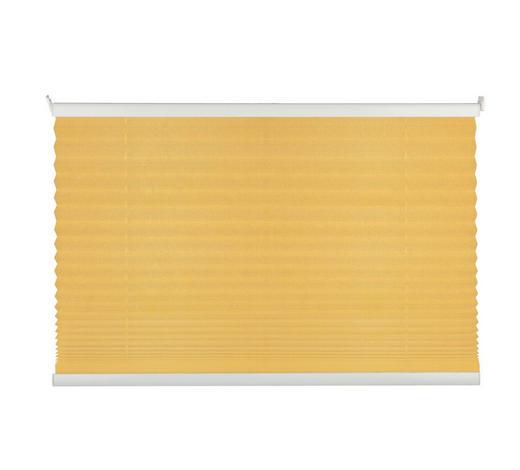 PLISSEE  halbtransparent  80/130 cm    - Goldfarben, Basics, Textil (80/130cm)