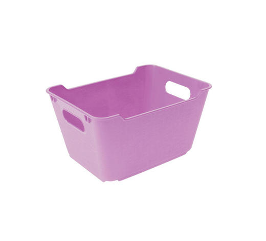KOŠARA - roza, Basics, plastika (19,5/14/10cm)