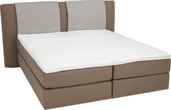 BOXSPRINGBETT 180 cm   x 200 cm   in Textil Grau, Schlammfarben - Schlammfarben/Alufarben, KONVENTIONELL, Kunststoff/Textil (180/200cm) - BENTLEY