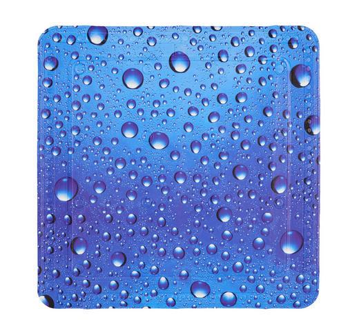 DUSCHEINLAGE Kunststoff  - Blau, KONVENTIONELL, Kunststoff (55/55cm) - Kleine Wolke