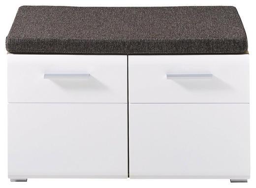 GARDEROBNA KLOP bela, hrast - bela/hrast, Konvencionalno, umetna masa/leseni material (80/48/37cm) - Voleo