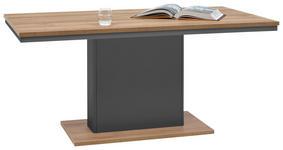 ESSTISCH rechteckig Eichefarben, Graphitfarben - Eichefarben/Graphitfarben, Design (160/90/73,6cm) - Hom`in