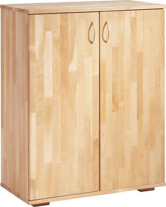 AKTENSCHRANK Kernbuche massiv Buchefarben - Buchefarben, Design, Holz (73/90/38cm) - Carryhome