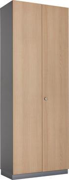 AKTENSCHRANK Eichefarben, Graphitfarben - Eichefarben/Graphitfarben, KONVENTIONELL, Holzwerkstoff (80/215,6/42cm)