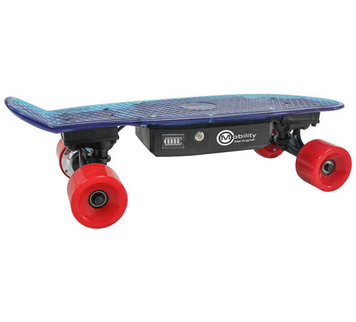 SKATEBOARD AX01 FUN - Blau, KONVENTIONELL, Kunststoff (15/59cm)