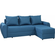 SEDEŽNA GARNITURA  modra tekstil - modra, Design, tekstil (230/151/80cm) - Xora