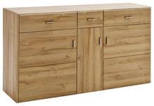 SIDEBOARD 154/88/45 cm  - Eichefarben/Nickelfarben, KONVENTIONELL, Holzwerkstoff/Metall (154/88/45cm) - Cantus