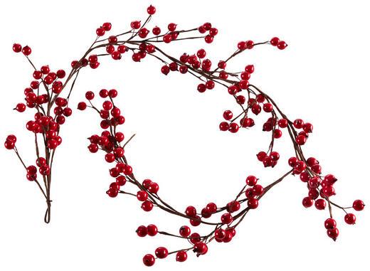 GIRLANDE  Braun, Rot - Rot/Braun, Basics, Kunststoff (130cm)