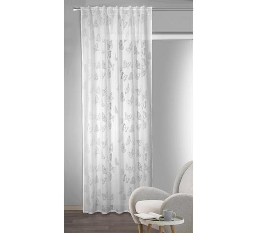 FERTIGVORHANG  halbtransparent  135/245 cm   - Weiß, Textil (135/245cm)