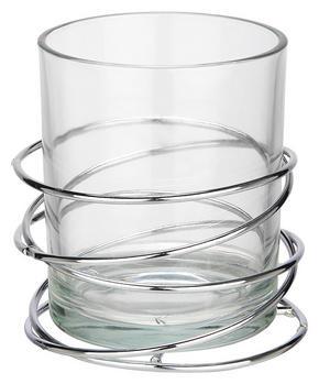 LJUSLYKTA - klar/silver, Design, metall/glas (10/10,4cm) - Ambia Home