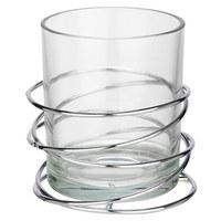 WINDLICHT - Klar/Silberfarben, Design, Glas/Metall (10/10,4cm) - Ambia Home