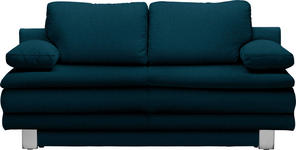 SCHLAFSOFA in Textil Petrol  - Chromfarben/Petrol, Design, Textil/Metall (194/96/86cm) - Novel
