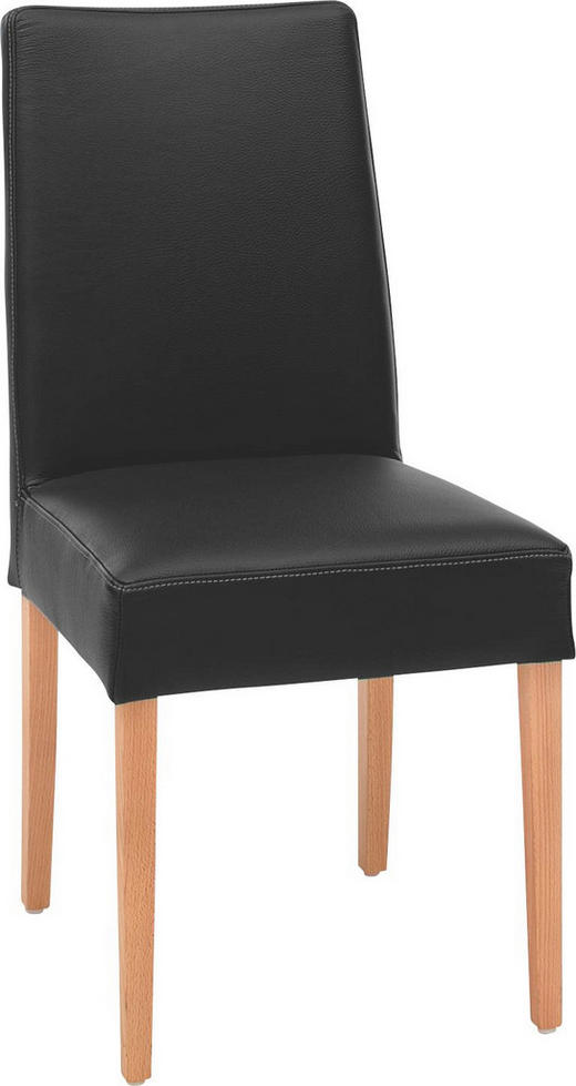 STUHL Echtleder Buche massiv Braun, Buchefarben - Buchefarben/Braun, Design, Leder/Holz (45/95/62cm) - MUSTERRING
