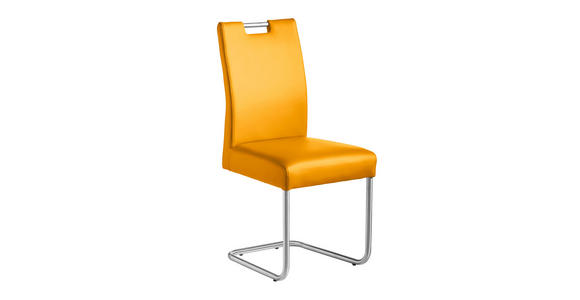 SCHWINGSTUHL Lederlook Edelstahlfarben, Gelb - Edelstahlfarben/Gelb, Design, Textil/Metall (48/99/69cm) - Valnatura