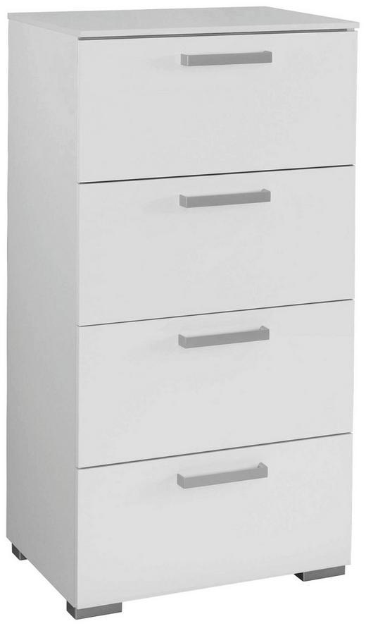 KOMMODE Weiß - Alufarben/Weiß, Design, Kunststoff/Metall (55/105/42cm) - Carryhome