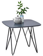 ODKLÁDACÍ STOLEK, černá, tmavě šedá - černá/tmavě šedá, Design, kov/kompozitní dřevo (50/50/42cm) - Carryhome