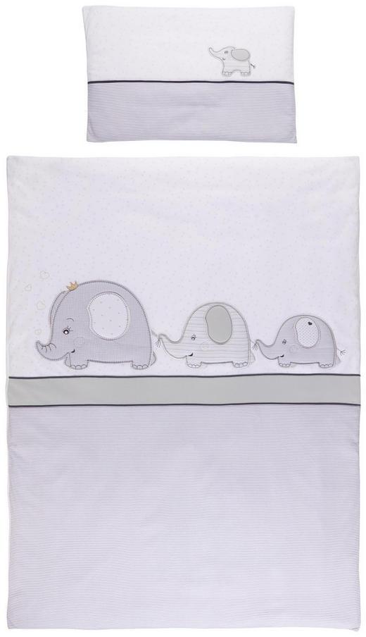 KINDERBETTWÄSCHE - Weiß/Grau, Basics, Textil (100/135/cm) - Patinio