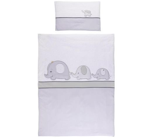 KINDERBETTWÄSCHE - Weiß/Grau, Basics, Textil (100/135cm) - Patinio