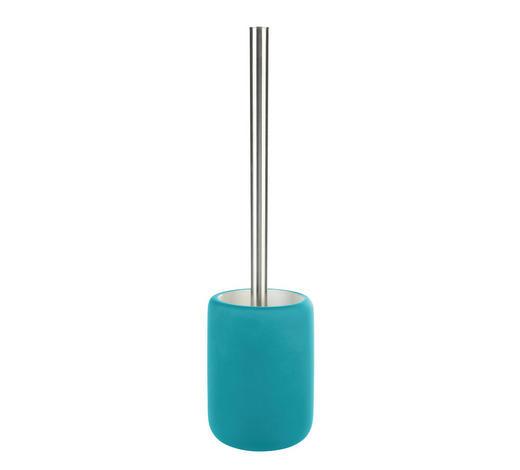 WC SADA - barvy chromu/tyrkysová, Basics, umělá hmota/keramika (9,9/40cm) - Sadena