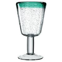 ROTWEINGLAS - Transparent/Grün, Design, Glas (9,00/17,50cm) - Leonardo