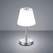 LED-TISCHLEUCHTE   - Weiß/Nickelfarben, KONVENTIONELL, Glas/Metall (15/29cm) - Novel