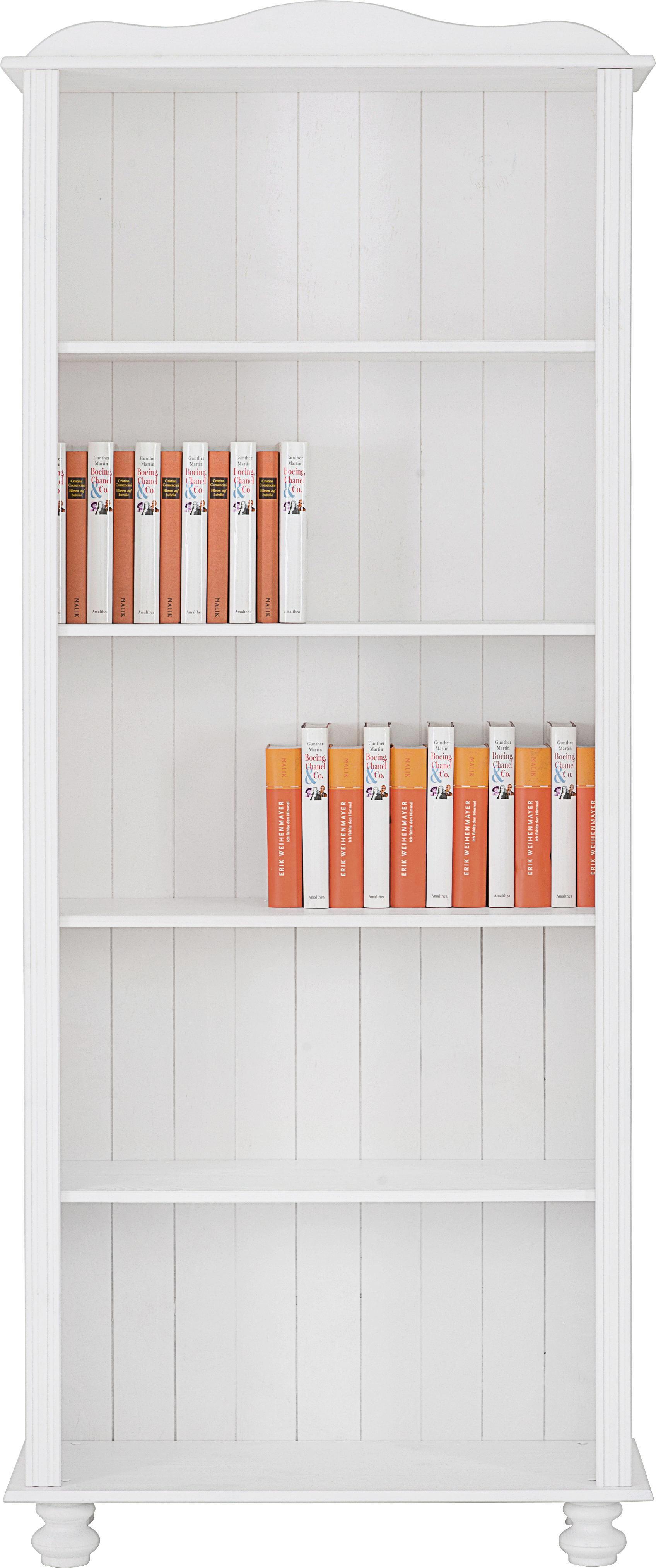 REGÁL - bílá, Lifestyle, dřevo (77/180/30cm) - LANDSCAPE